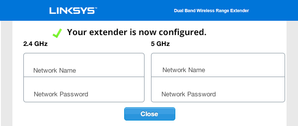 how to setup linksys extender